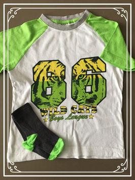 Jungle tshirt met grote letters en bijpassende sokken merk BPC - maat 104-110