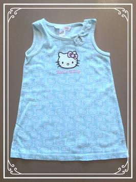 Een lichtblauw Hello Kitty jurkje - maat 80