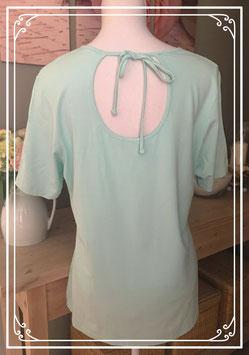 Mintgroen T-shirt met uitgesneden rug - Maat L