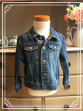 Stoer jeans jasje van L.O.G.G. - maat 104