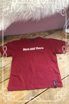 Bordeauxrood t-shirt van H&T (Here and There) - maat 110