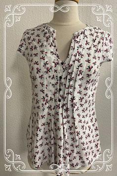 Chique bloes met strikjes motief van Wallis Maat 36