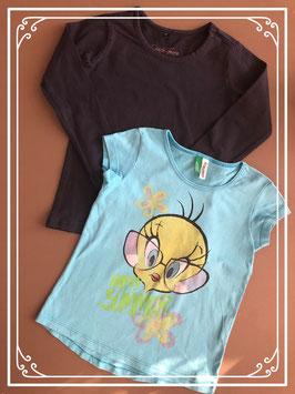 Twee shirtjes maatje 98-104