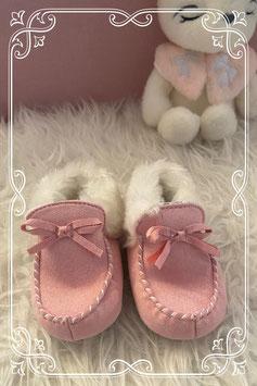 Roze pantoffels van de C&A - maat 19-20