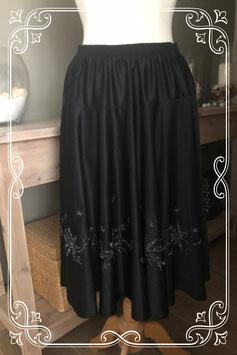 Zwarte rok met zilveren patroontje van Galmès - Maat L