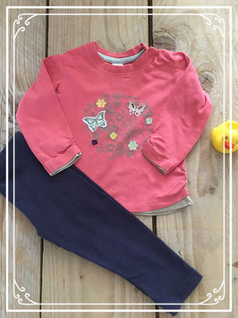Shirt baby club maat 74 en legging hema maat 80