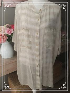 Nieuw: doorschijnende beige blouse van C&A - Maat 52-54