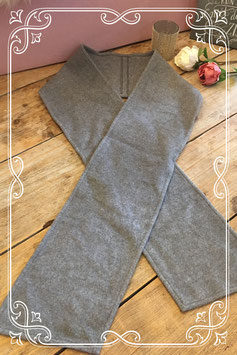 Grijze wolfleece sjaal