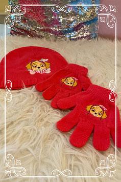 Schattig mutsje en handschoenen van Skye - voor 5-8 jaar