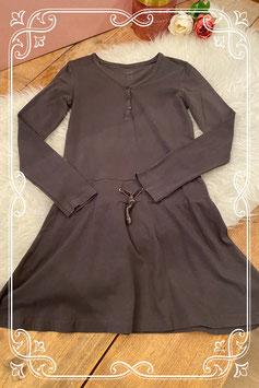Lange bruine jurk van de HEMA - Maat 146/152