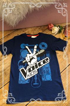 Donkerblauw shirt van WE - Maat 140