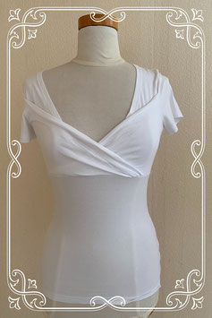 Wit shirt met overslag van Zaatxchi maat XS