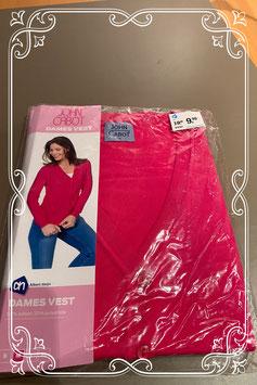 Nieuw: een mooi vest van John Cabot in roze Maat M