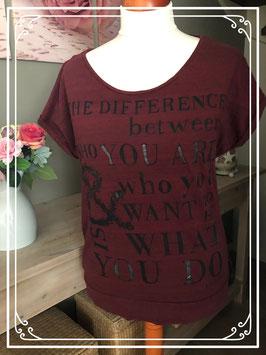 Bordo rood t - shirt van het merk - Eksept - Maat XXL