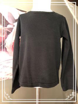 Zwart basic shirtje met lange mouw van Girls maat 128-134