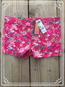 Nieuw: roze korte broek met bloemen print -maat 152