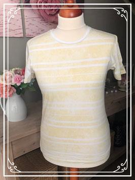 Gemeleerd licht geel t - shirt van het merk Jack & Jones co - Maat - M