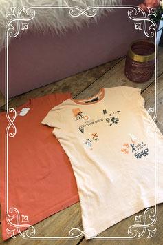 2 zomerse T-shirts van Hema en Mexx - Maat 134/140