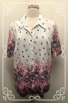 Leuke blouse met bloemmotief in maat 44