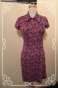 Nieuw: Donkerroze jurkje met bloemen van het merk SOHO maat 164