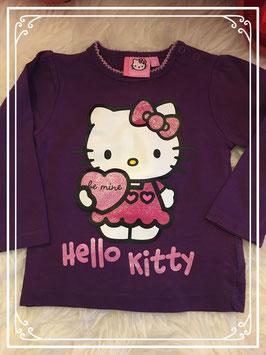 Paars Hello Kitty longsleeve - maat 86