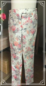Witte broek met bloemenprint van City Life - Maat 36