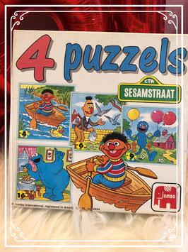 4 puzzels van Sesamstraat