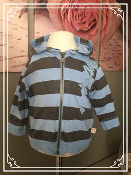 Blauw bruin vest van Noppies - Maat 68