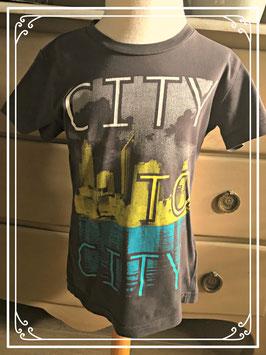 Bruin T-shirt met print van WE - maat 110-116