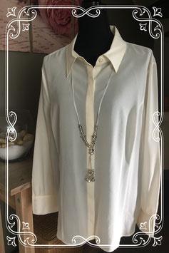Nieuw: Witte blouse met afneembare ketting van Sixth Sense by C&A - maat 50
