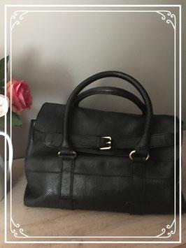 Echt zwart leren tas van Zara woman