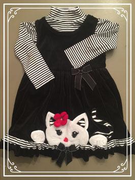 Een Bonnie Jean jurkje met shirtje - maat 98