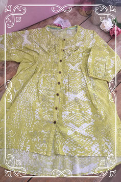 Nieuwe lime groene blouse van Didi Girls maat 12=158