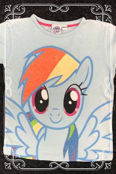 Leuk blauw shirt van My Little Pony maat 98/104