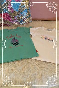 Twee shirts van het merk Feetje en name it maat 80