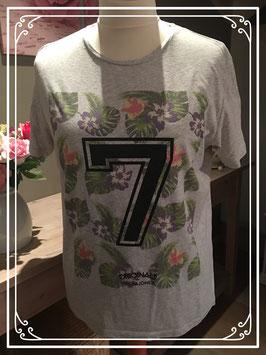 Grijs T-shirt van de JACK&JONES - Maat XL