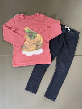 2 delige set Shirt en legging Maat 98