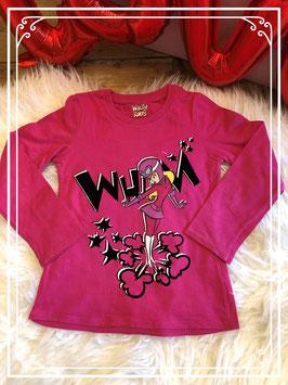 Donkerroze shirt - WACKY RACES - maat 86