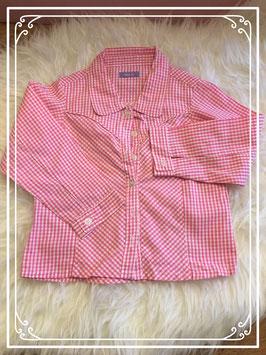 Hema Roze geruite blouse met kraag maat 92