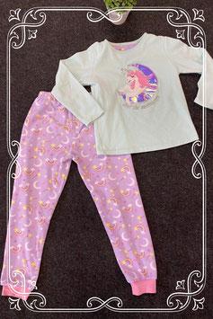 Leuke 2-delige unicorn pyjama maat 128