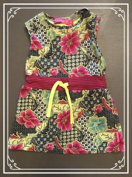 Fleurig jurkje van het merk Kiezeltje - Maat 68