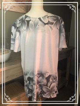 Wit tshirt met grijze bohemianprint merk gallice - maat XL