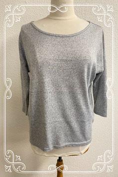 Warm grijs shirt met driekwart mouwen van Only maat S