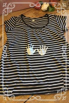 Zwart/wit gestreept shirt van Calin Kalin - Maat M