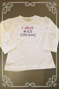 leuk wit shirtje met tekst van BFC - maatje 74