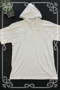 Wit shirt met capuchon van Akmo Works maat XL