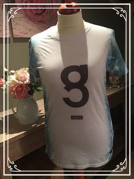 Wit/blauw T-shirt van GALLICE - Maat XL