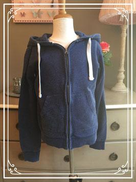 Grijsblauwe sweatervest van de HEMA - maat S
