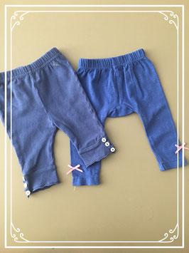 Set twee blauwe leggings - Maat 62