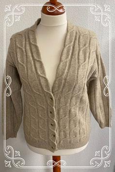 Heerlijk dik en warm vest in beige van La Ligna maat M